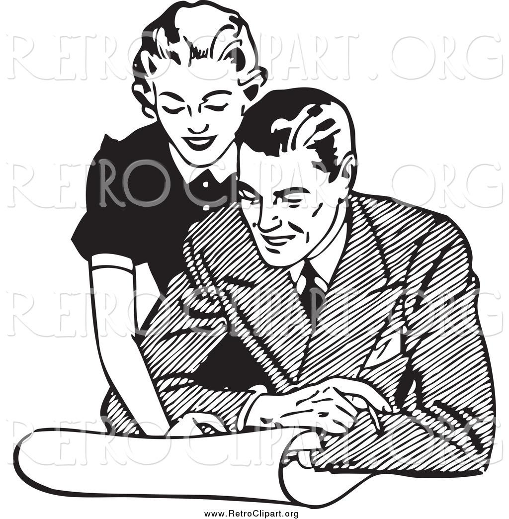 Royalty Free Couple Stock Retro Designs