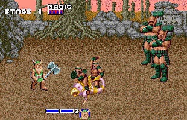 DOS gameplay Golden Axe