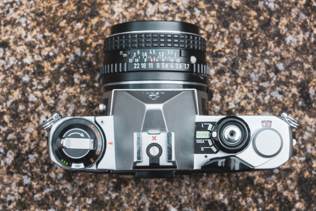 The Pentax ME top plate