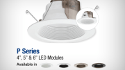 Lithonia Lighting P Series family of LED modules offer an increased color-rendering index (93), superior color in both 2700K and 3000K, rendering colors nearly as natural and true as daylighting.