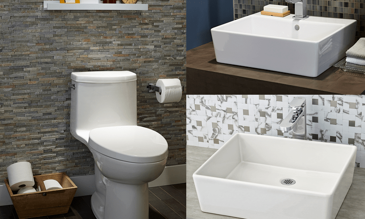 Collection of Bath Fixtures Consists of a High-efficiency Toilet and ...
