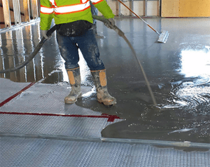 Thickened gypsum-based flooring underlayment over a sound mat is problematic in hot, humid climates. It can impact the amount of moisture that is released to the floor cavity below.