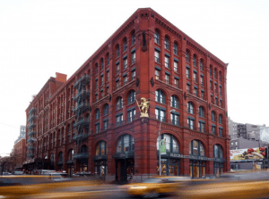 Several years ago, CallisonRTKL completed the renovation of the historic Puck Building, which was built in 1885 in New York's SoHo neighborhood and features extensive reuse of building materials. The Recreational Equipment Inc. store contains many materials associated with the Puck Building's past as a printing facility.