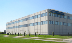 This community college classroom building features a steel curtainwall system that was leaking.