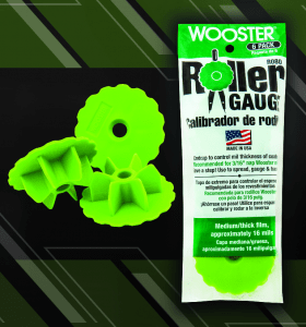 The Wooster Brush Co. has added a green, 16-millimeter roller gauge to extend its product line.