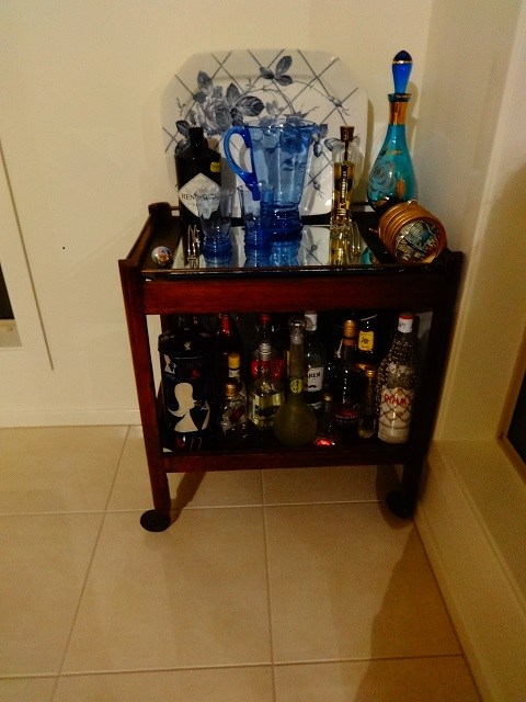 The all important drinks trolley