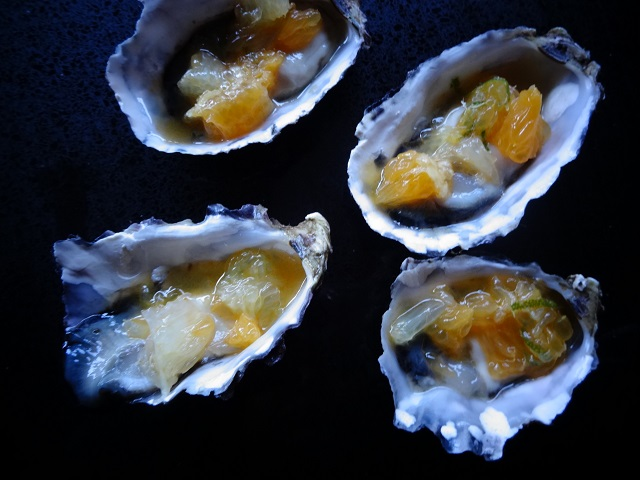 Oysters with Citrus Salsa
