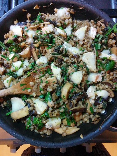 Warm Barley & Mushroom Salad with Taleggio