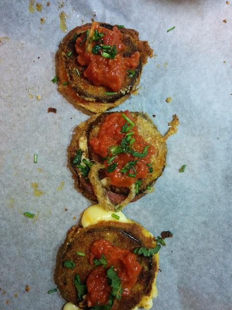 Eggplant Salami Sandwich 5