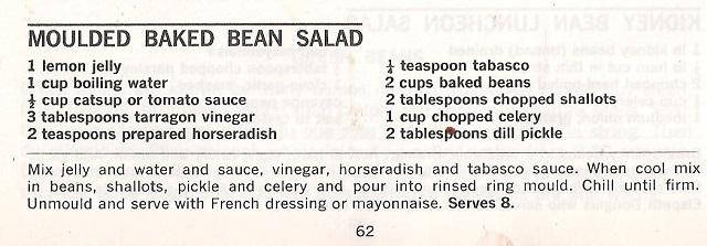 moulded baked bean salad