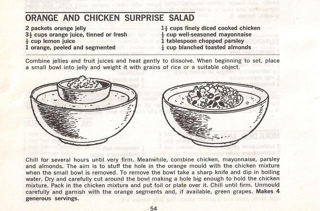 Orange and Chicken Surprise Salad
