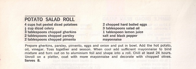 Potato Salad Roll Recipe