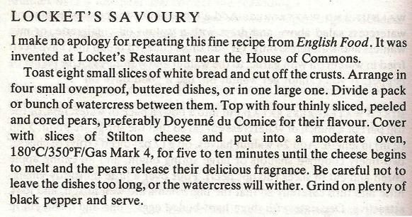 Locket's Savoury Recipe
