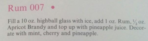 Rum 007 recipe