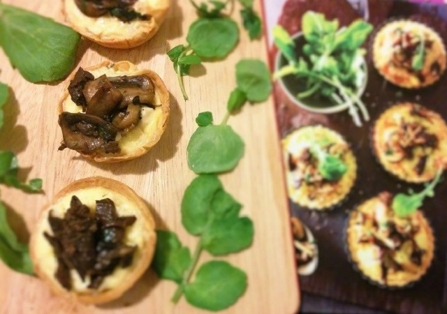 Potato and Mushroom Tarts