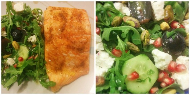Cucumber, Pistachio, Feta & Grape Salad