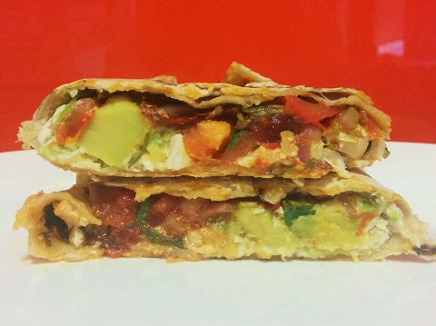 Chicken, Avocado and Chipotle Tortilla