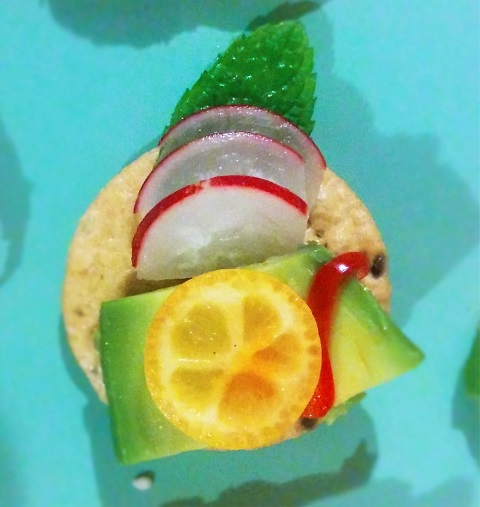 Kumquat Avocado Canape