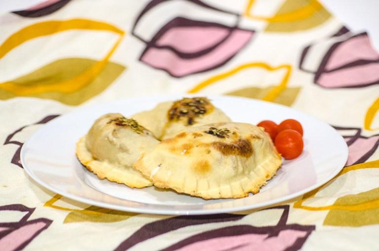 Mushrooms and Smocked Tofu Calzoncini