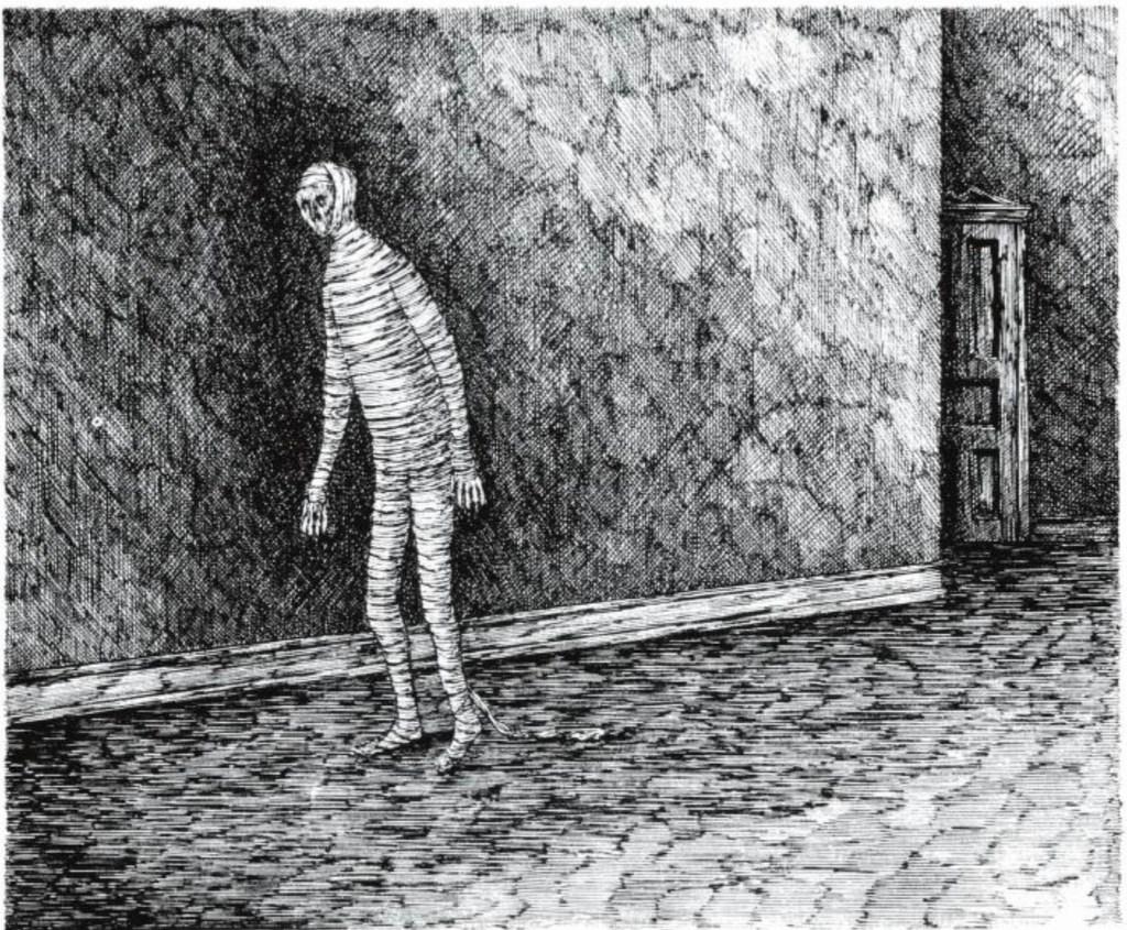 Edwar Gorey Gothic drawings