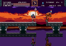 castlevania bloodlines genesis screenshot 1