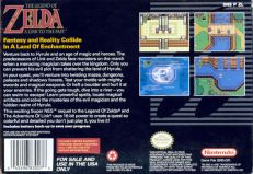 the legend of zelda a link to the past snes box art back cover