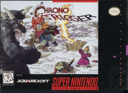 chrono trigger snes box art front cover