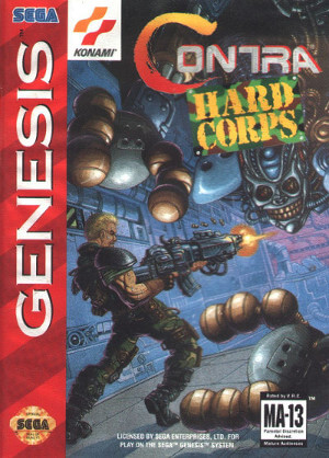 contra hard corps genesis box art front cover