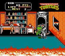 teenage mutant ninja turtles II the arcade game nes screenshot 1