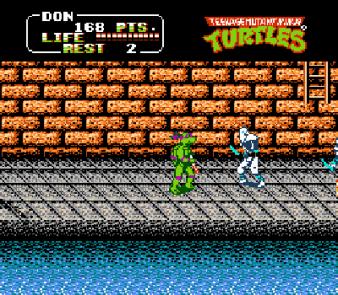 teenage mutant ninja turtles II the arcade game nes screenshot 3