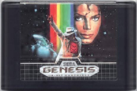 michael jackson's moonwalker genesis cartridge