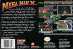 mega man x snes box art back cover