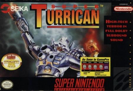 super turrican snes box art front cover
