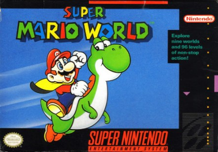 super mario world snes box art front cover