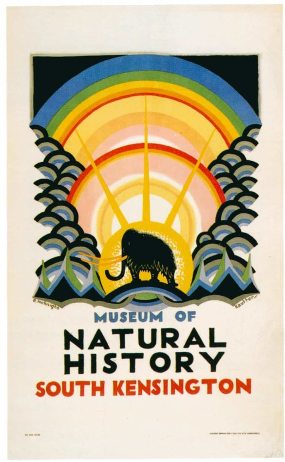 vintage london underground prints museum of natural history 1923