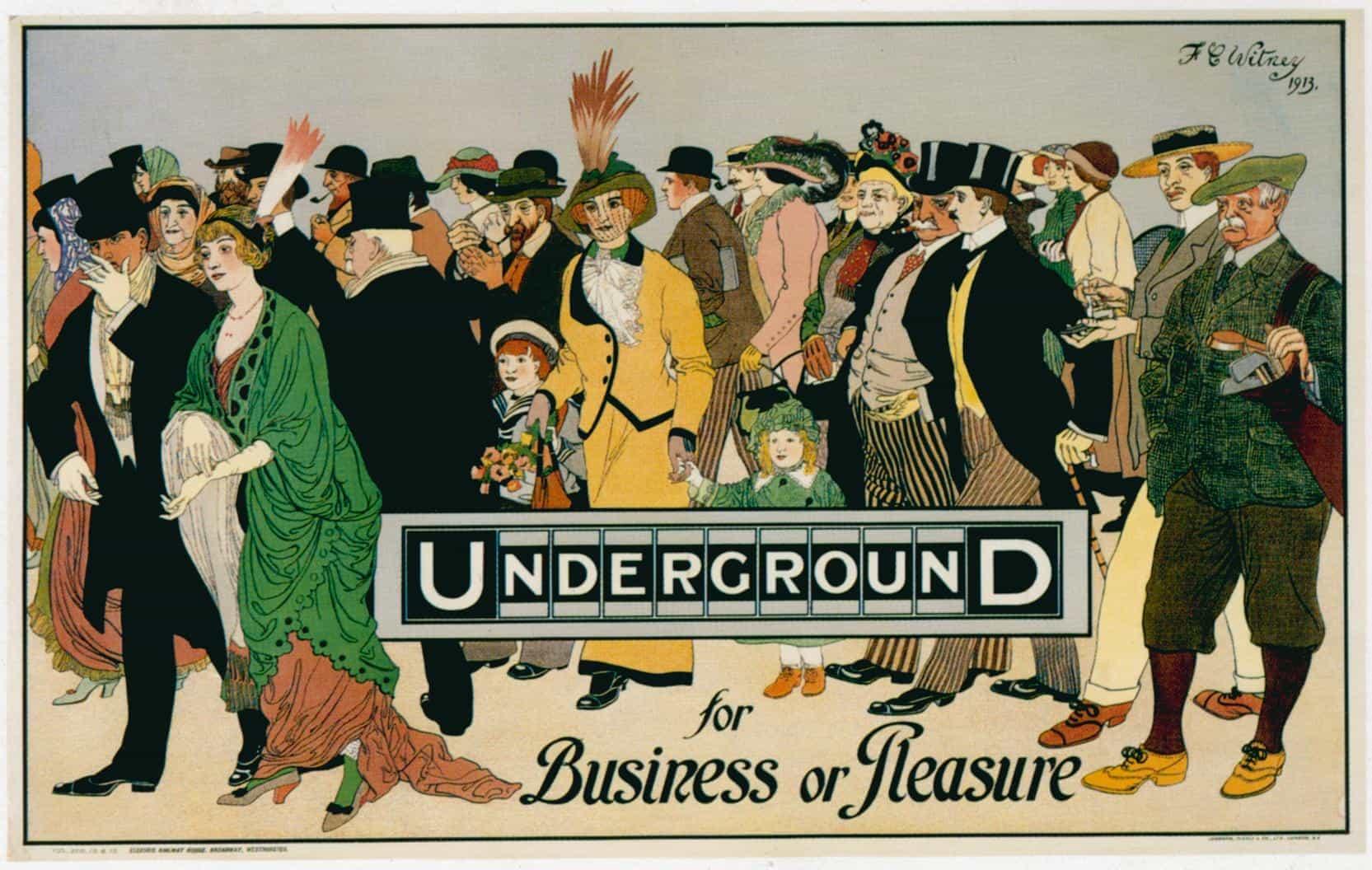 poster travel tube london underground