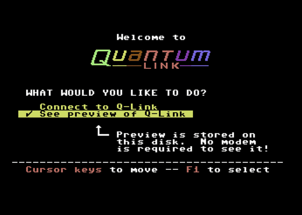 Quantum Link for the Commodore 64