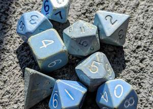 Reproductions of original Dungeons & Dragons Dice