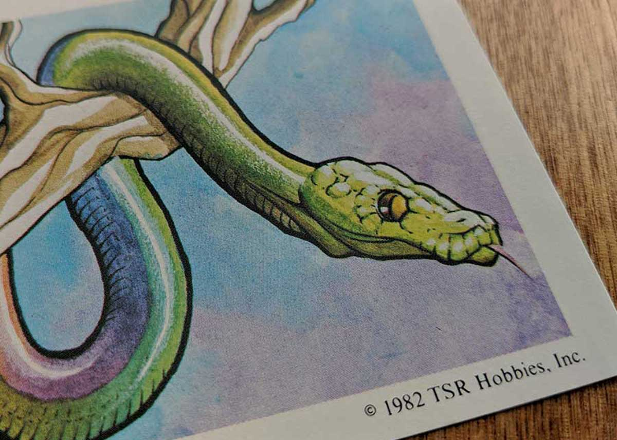 Dungeons & Dragons Monster Cards – Giant Constrictor Snake