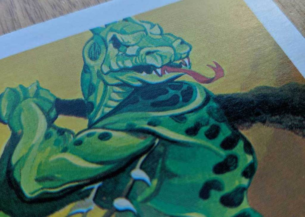 Dungeons & Dragons Monster Card – Lizard Man