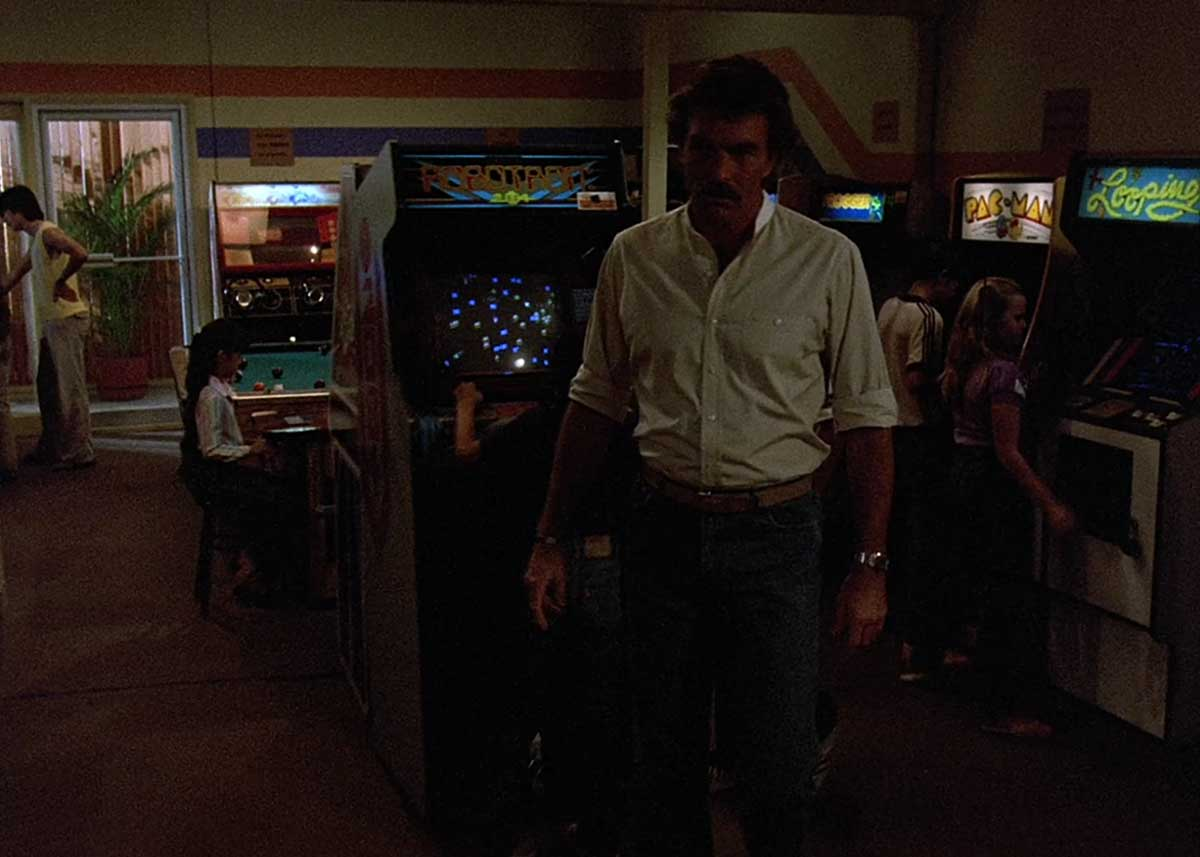 Retro Arcade Games on Magnum PI