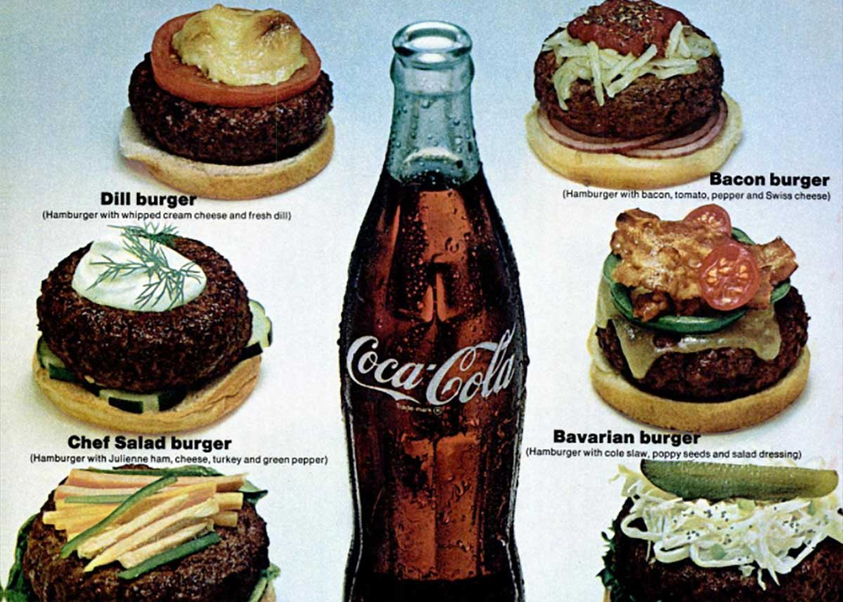 Coca-Cola and its early Seventies Gourmet Burgers