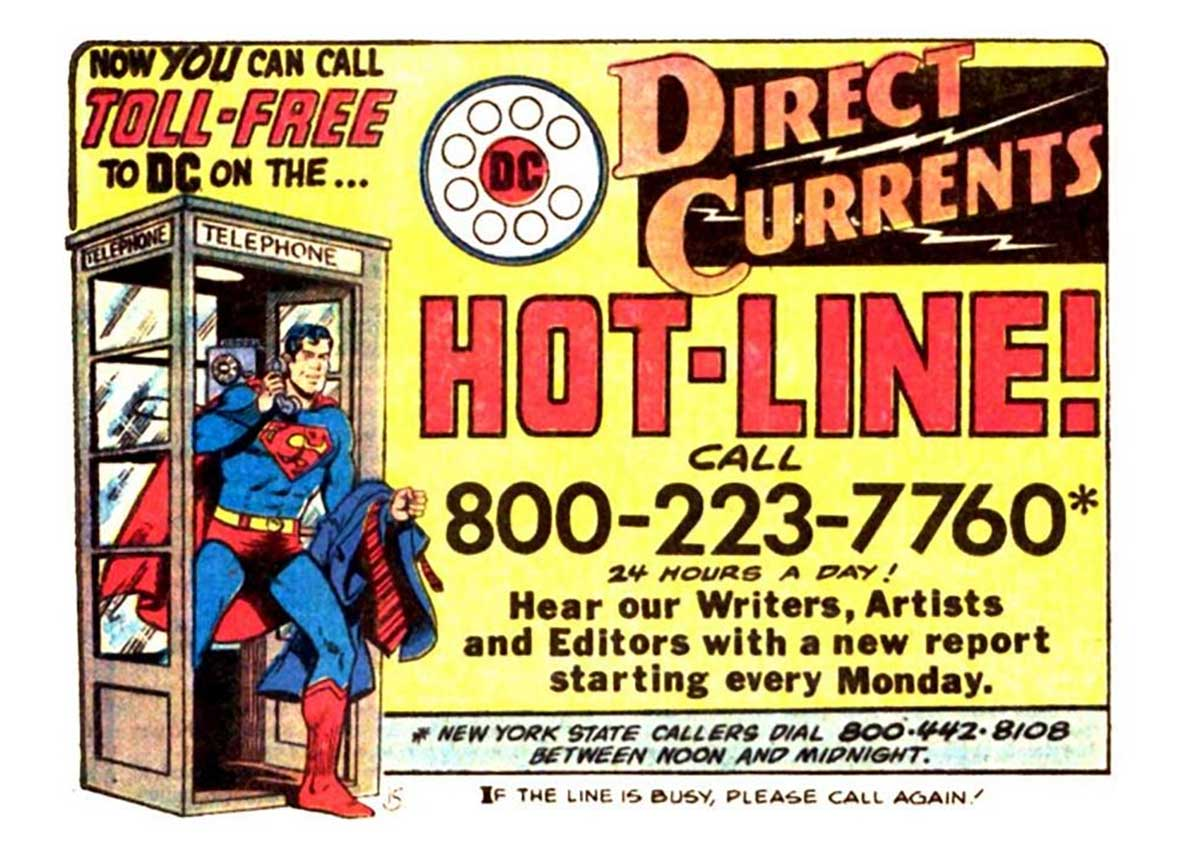 The DC Comics Direct Currents Hot-Line