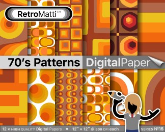 s patterns  digital paper Listing Graphic