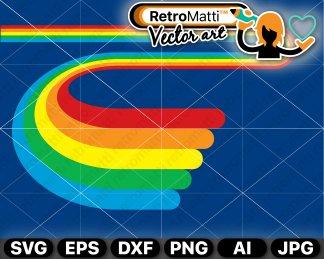 70s rainbow clipart | retromatti