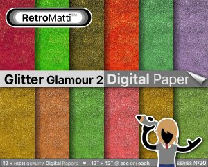 Glitter Glamour  No digital paper Listing Graphic