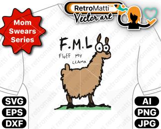 retromatti w part  momswear fluff my llama