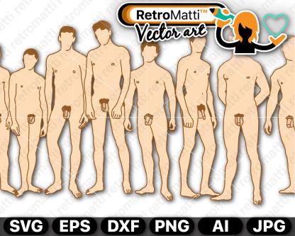 retromatti w part  naked guys