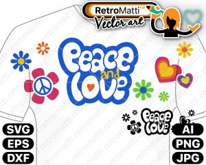 retromatti w part  peace and love