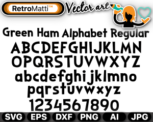 retromatti w part green ham alphabet regular